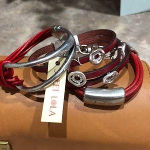 sweet lola Jewelry - NWT red bracelets set of 3